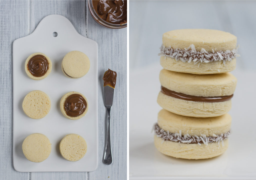 Alfajores are tender cookies filled with dulce de leche that literally melt in your mouth! Every time I bring these somewhere, they disappear quickly!