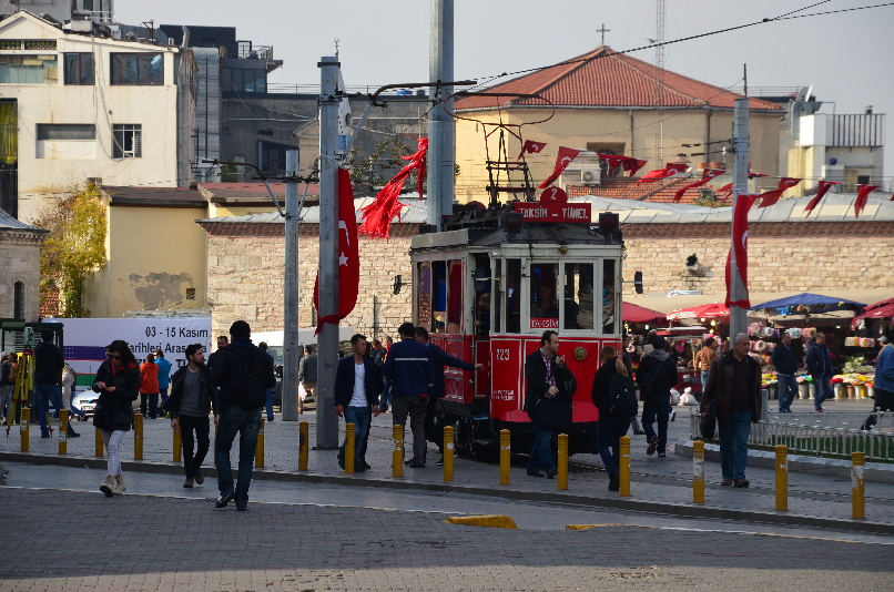 Tram on the Taksim Square