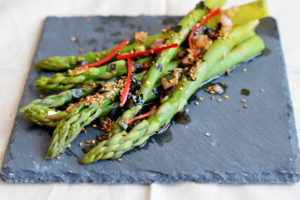 Asian Asparagus Salad with Nori, Sesame and Chilli