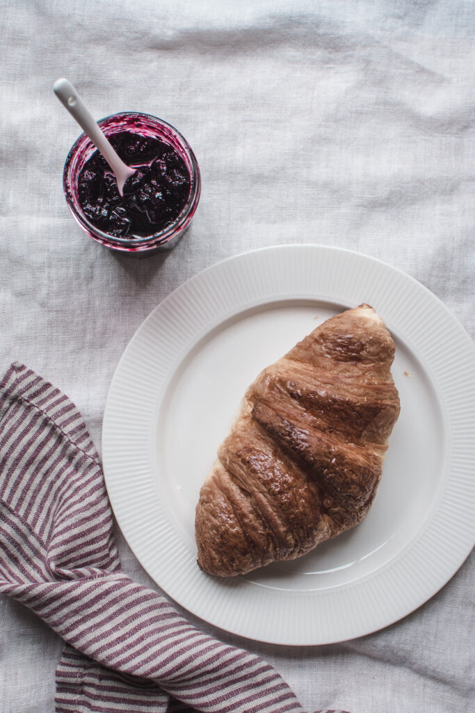 Blueberry Jam with Pinot Noir, cinnamon, allspice, and star anise is a little pleasure in a jar that will make you happy every breakfast you eat it.