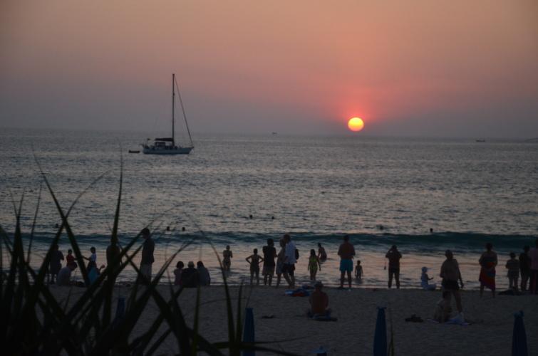 západ slunce na Hat Kata
