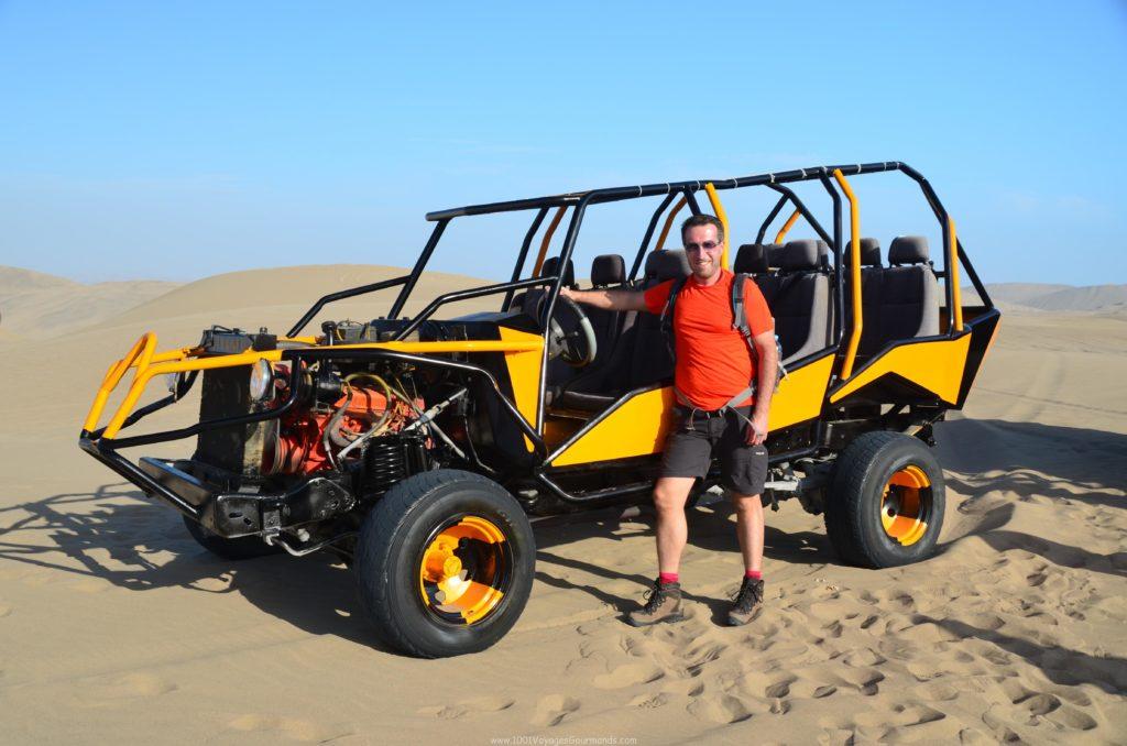 dune buggy in Huacachina