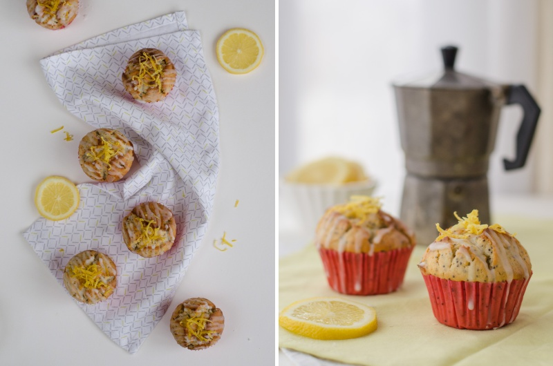 My recipe for the best Lemon Poppy Seed Muffins, where a major dose of butter is replaced by greek yoghurt.