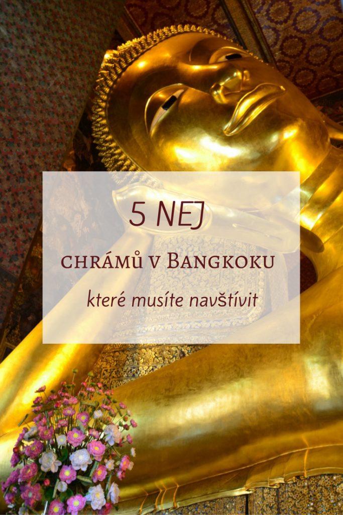 Bangkok je krásné město, kde najdete několik set buddhistických chrámů a v tomto článku se dozvíte, jakých 5 chrámů v Bangkoku si nesmíte nechat ujít.