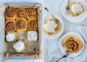 Here is a recipe for the best Pumpkin Cinnamon Rolls - a soft, sweet and spicy-smelling treat that will call your name right after taken out from the oven!