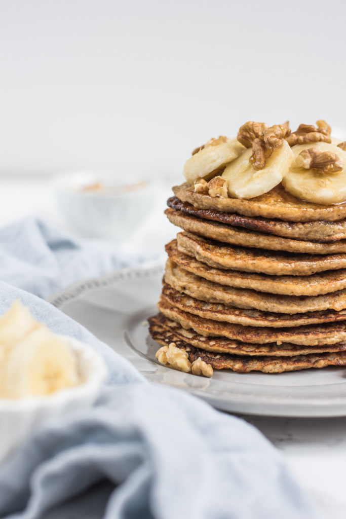 Banana oatmeal pancakes are a great option if you have some ripe bananas. They are delicious, healthy and easy to prepare!